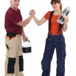 A teacher and his trainee. — Stock Photo #17345745