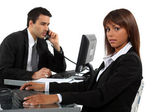 Workers in office — Stock Photo