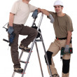 Builders with powertools — Stock Photo #17353295