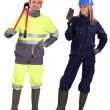 Bricklayer and builder — Stock Photo #17353339