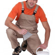 Stock Photo: Portrait of tile fitter