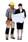 Architect and builder — Stock Photo