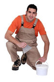 Portrait of a tile fitter — Stock Photo
