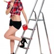 Sexy painter — Stock Photo #17398751