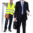 Stock Photo: Architect stood with mason