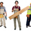 Three carpenters — Stock Photo