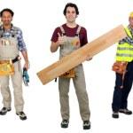 Three carpenters — Stock Photo