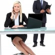 Foto de Stock  : Director and Secretary