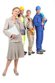 Four professions — Stock Photo