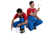A team of painters — Stock Photo