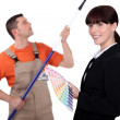 Interior decorator and painter — Stock Photo