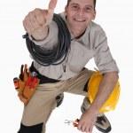 Tradesman giving the thumb — Stock Photo #17620461