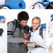 Stock Photo: Hiking couple