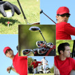 Golf themed montage — Stock Photo