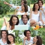 Couple enjoying romantic picnic — Stock Photo #17621333