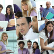 Images of a busy office — Stock Photo