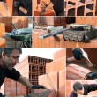 Collage of bricklayer — Stock Photo #17621523