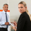A busy personal assistant — Stock Photo