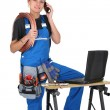 Stock Photo: Female artisworker