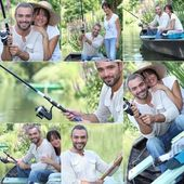 Couple fishing together — Стоковое фото