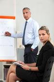 Businessman making a presentation — Stock Photo