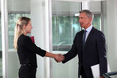 A business handshake — Stock Photo