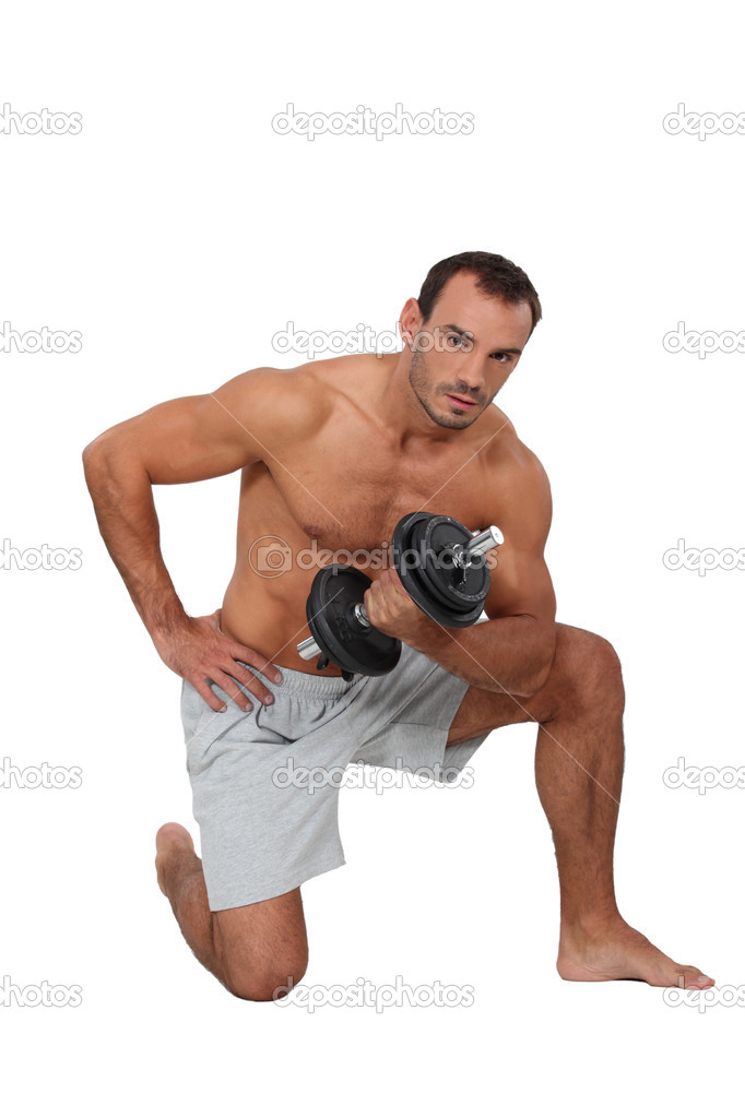 Man lifting weights  Stock Photo #17624975