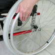 Disabled person in a wheelchair — Stock Photo
