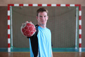 Handball player — Stock Photo