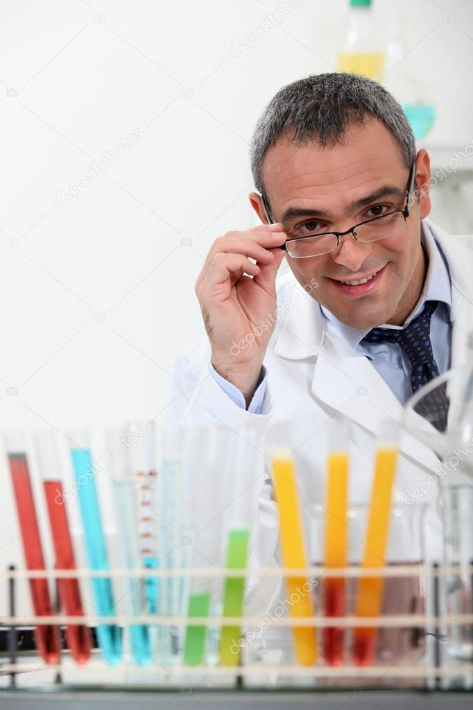 Medical scientific making tests — Stock Photo #18408917