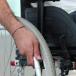 Disabled person confined to a wheelchair — Stock Photo #18410219