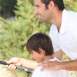 Father and son fishing — Stock Photo #18415841