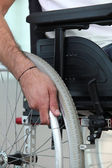 Disabled person confined to a wheelchair — Stock Photo