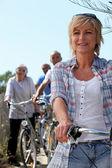 Seniors bike — Stock Photo