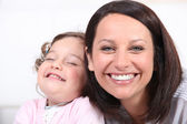 Mother and baby laughing — Stock Photo