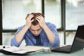 Office worker discouraged — Stock Photo