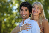 Embracing couple — Stockfoto