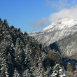 Mountain landscape in winter - Foto Stock