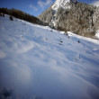 Snowy mountain — Stock Photo