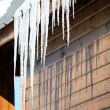 Stalactite hanging from chalet roof — Stock Photo #18434679