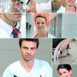 Collage of healthcare scenes — Stock Photo #18435231