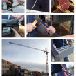 Construction themed collage - Stock Photo