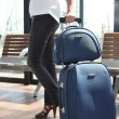 Woman in a hurry going on a trip — Stock Photo #18435655