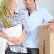 Couple moving — Stock Photo #18436349
