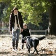 Walking the dog — Stock Photo #18439821