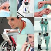 Miscellaneous snapshots of medical staff — Stock Photo