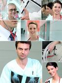 Collage of healthcare scenes — Stock Photo