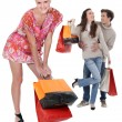 Friends shopping — Stock Photo #18441507