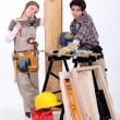 Children playing builder — Stock Photo