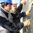 Tradesmen working together — Stock Photo